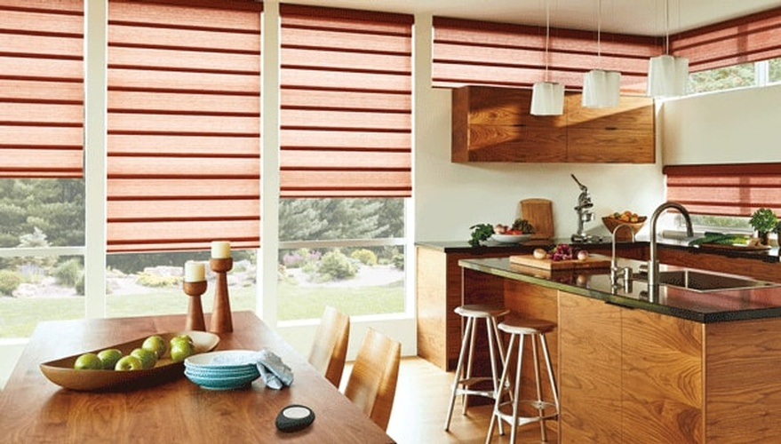 Kitchen Window Treatments by Sensational Seams - Window Blinds Orono