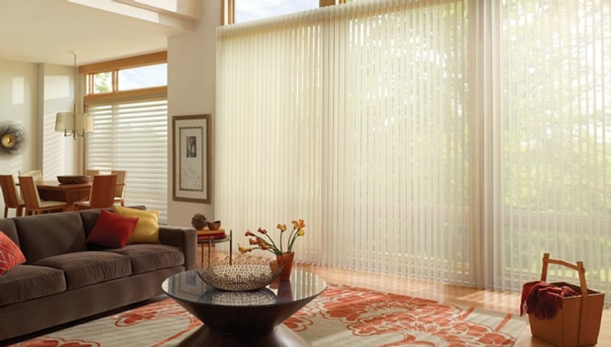 Classic Fabric Vertical Blinds by Sensational Seams - Window Fashion Specialists Newcastle