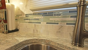 Bathroom Sink Backsplash Tiles - Interior Design Bowmanville by Sensational Seams