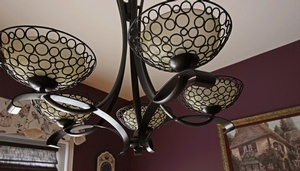 Beautiful Uplight Chandelier at Sensational Seams