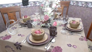 Floral Print Tablecloth for Dining Table by Sensational Seams