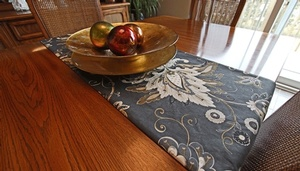 Floral Print Table Runner for Dining Table by Sensational Seams