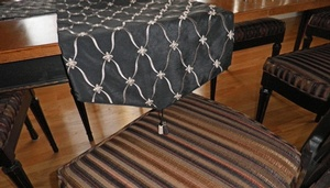 Black and White Table Runner by Sensational Seams