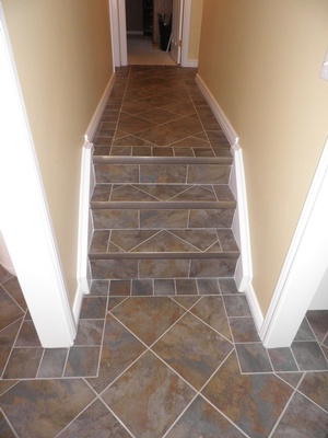Ceramic Tile Staircase - Flooring Selection by Sensational Seams
