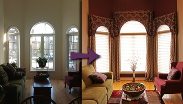Living Room Transformation by Certified Color Specialists at Sensational Seams