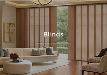 Hunter Douglas gliding window blinds installed by Sensational Seams