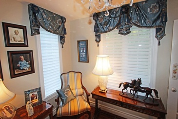 Swag Window Valances by Sensational Seams - Room of the Month October 2016