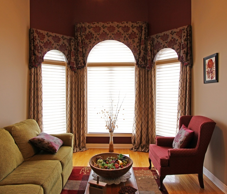 Speciality Shaped Window Treatments Newcastle by Sensational Seams